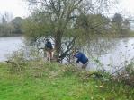 Travaux aux abords de l'étang