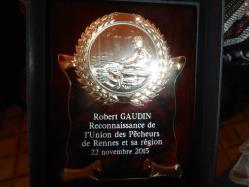 Médaille de Robert Gaudin Union des Pêcheurs